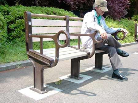 Angled bench - photo from Yumiko Hayakawa