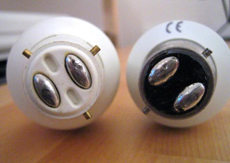 MEM BC3 compared with standard 2-pin bayonet CFL