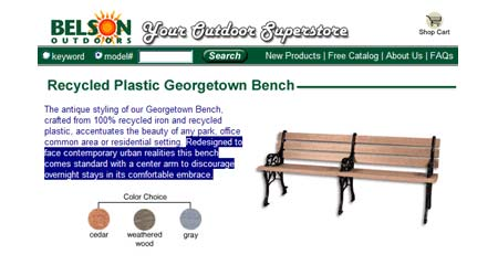 Belson Georgetown Bench