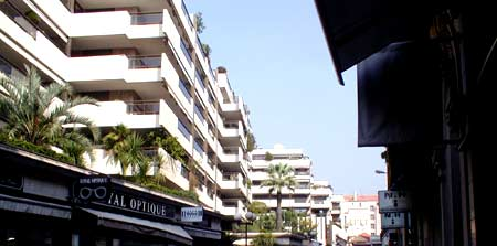 A street in Cannes, autumn 2005