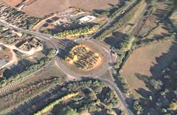 Countess Roundabout, A303, Amesbury, Wiltshire, England (Image from Google Earth)