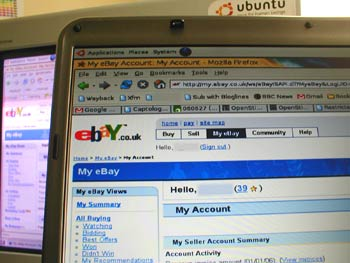 eBay's 'My Account' section has no 'Delete account' facility