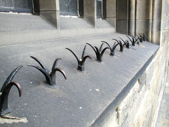 Spikes near Edinburgh Castle
