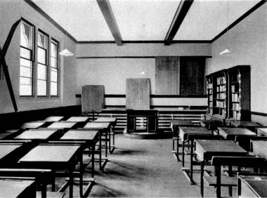 A traditional British school classroom (built mid-19th century)