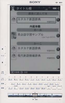 Sony Librié eBook reader: books expire after 60 days