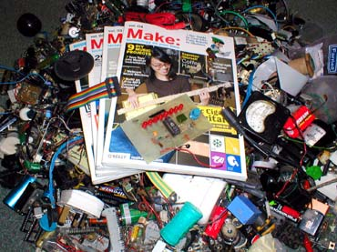 MAKE magazine, perhaps in a typical reader's environment