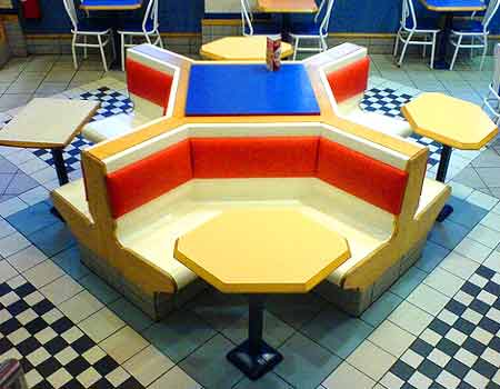 McDonald's seating, uncomfortable, Glasgow, from Headphonaught's Flickr stream