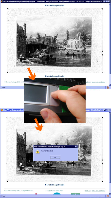 English Heritage Viewfinder: right-click disabled