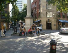 Shared space at Seven Dials, London