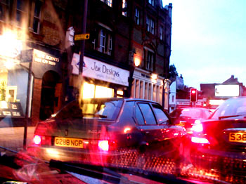 A traffic jam in south London, 2002