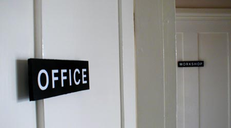 Office and workshop door plaques